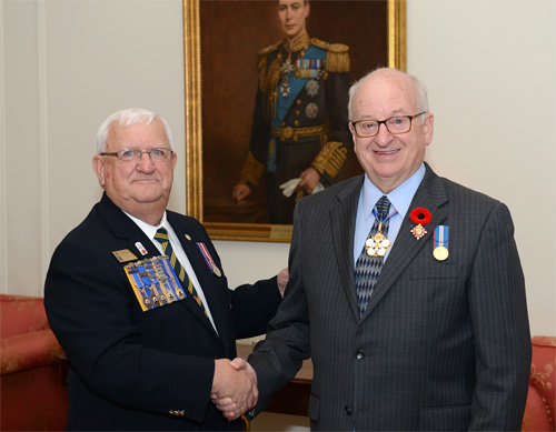 Presentation of the First Poppy to the Lieutenant Governor of Nova Scotia 24 Oct 18 2