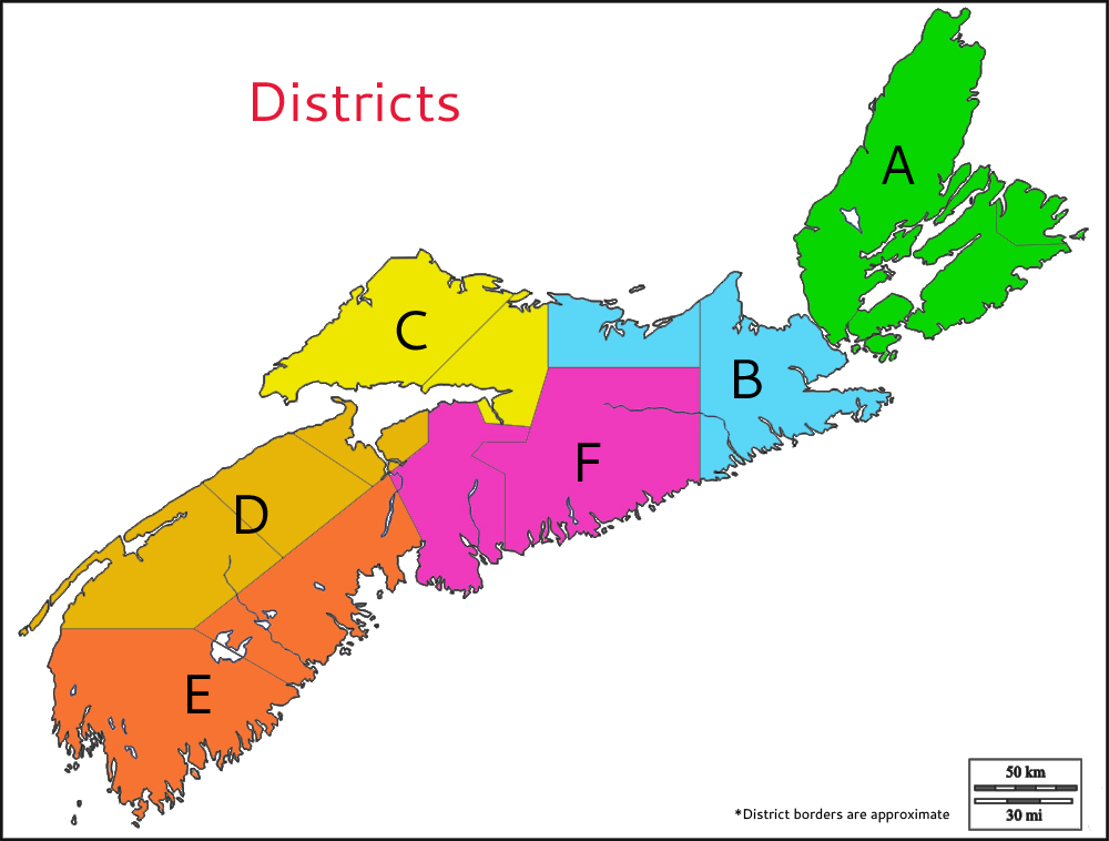Nova Scotia Legion Districts